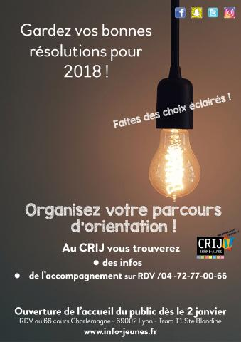 Bonnes résolutions pour 2018 !