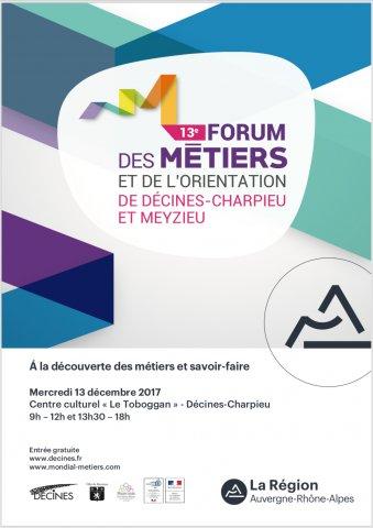 Forum des métiers et de l'orientation, Décines-Charpieu et M...