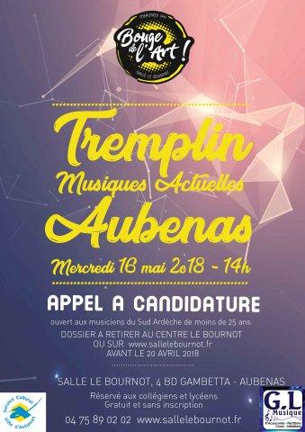 """Tremplin musical """"Bouge de l'Art"""" à Aubenas"""